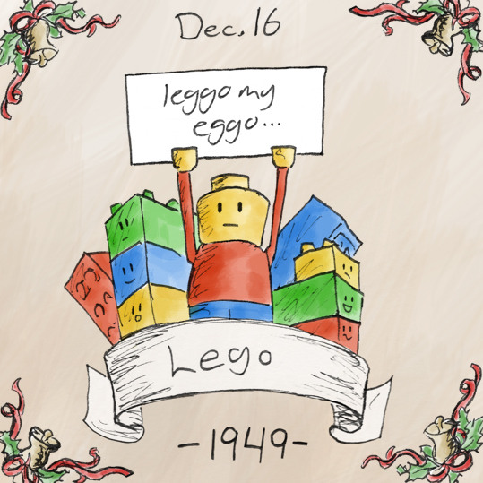 Out of all of the toys featured this year, Lego is the one that I can't wait to but for my daughter when she finally becomes old enough to play with things. Legos were invented by a Danish carpenter, who started off making wooden blocks. The name Lego comes from the Danish words 'leg godt', which means 'play well'. One time when I was young I made a tyrannosaurus rex out of lego, and from what I remember, it was awesome.