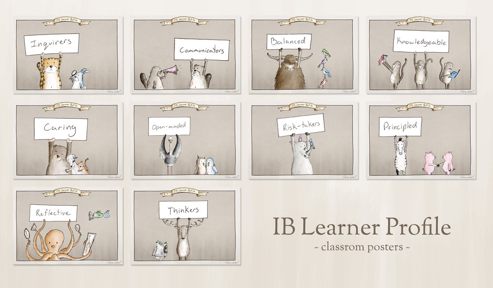 IB Learner Profile Poster - all