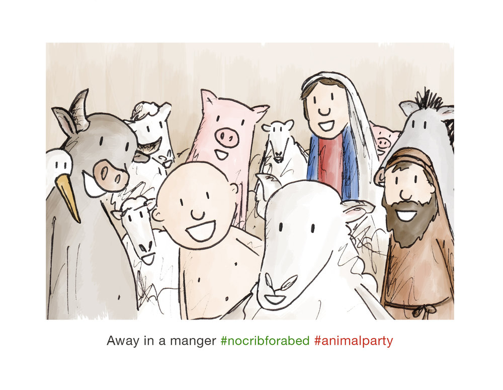 Christmas Selfie Series - Away in a Manger