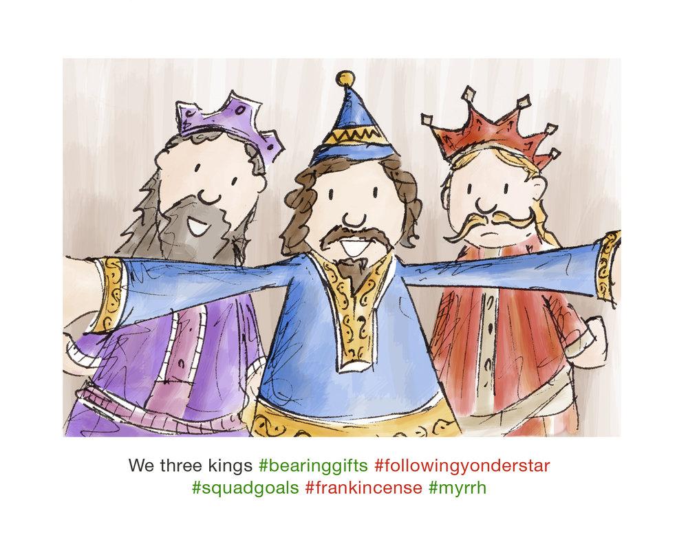 Christmas Selfie Series - We Three Kings