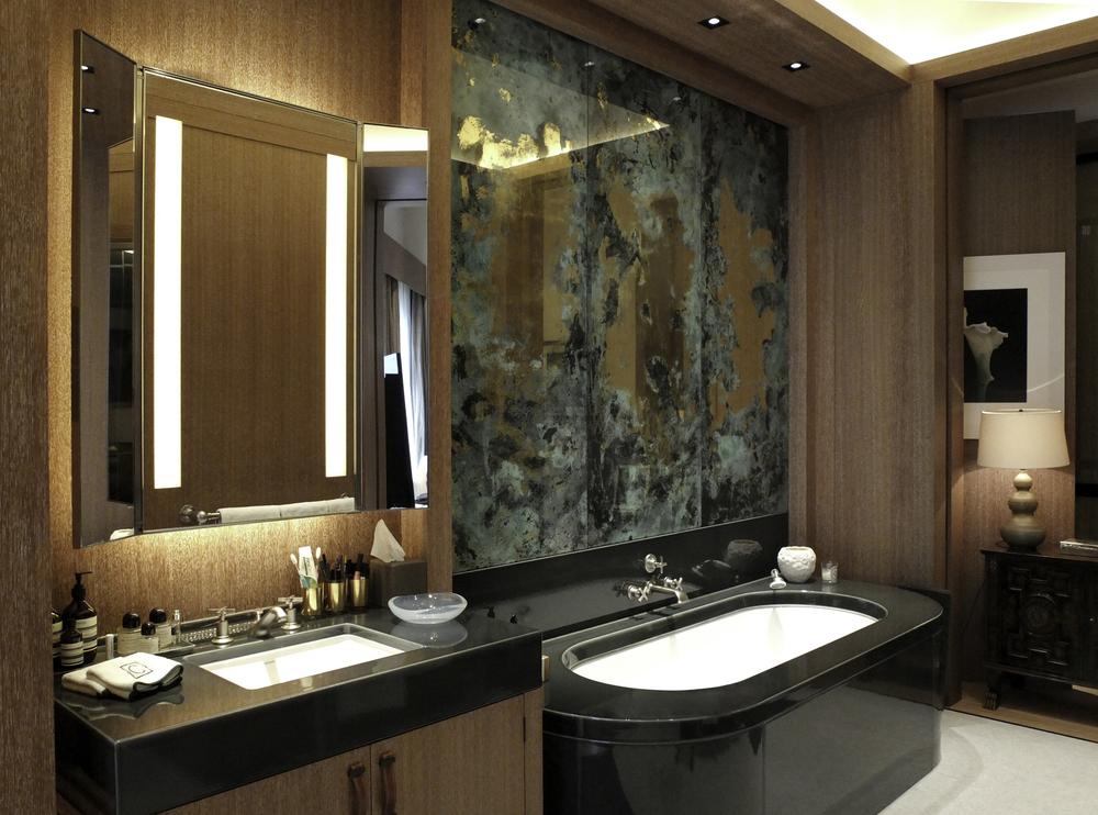 Verdigris with 22ct carat gold  Private residence, Belgravia, London Studio Reed