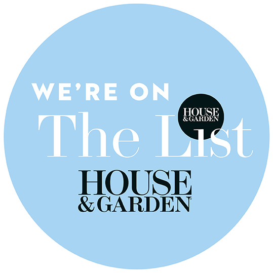 "Thank you to House & Garden for featuring us on 'The Best of the List""!"