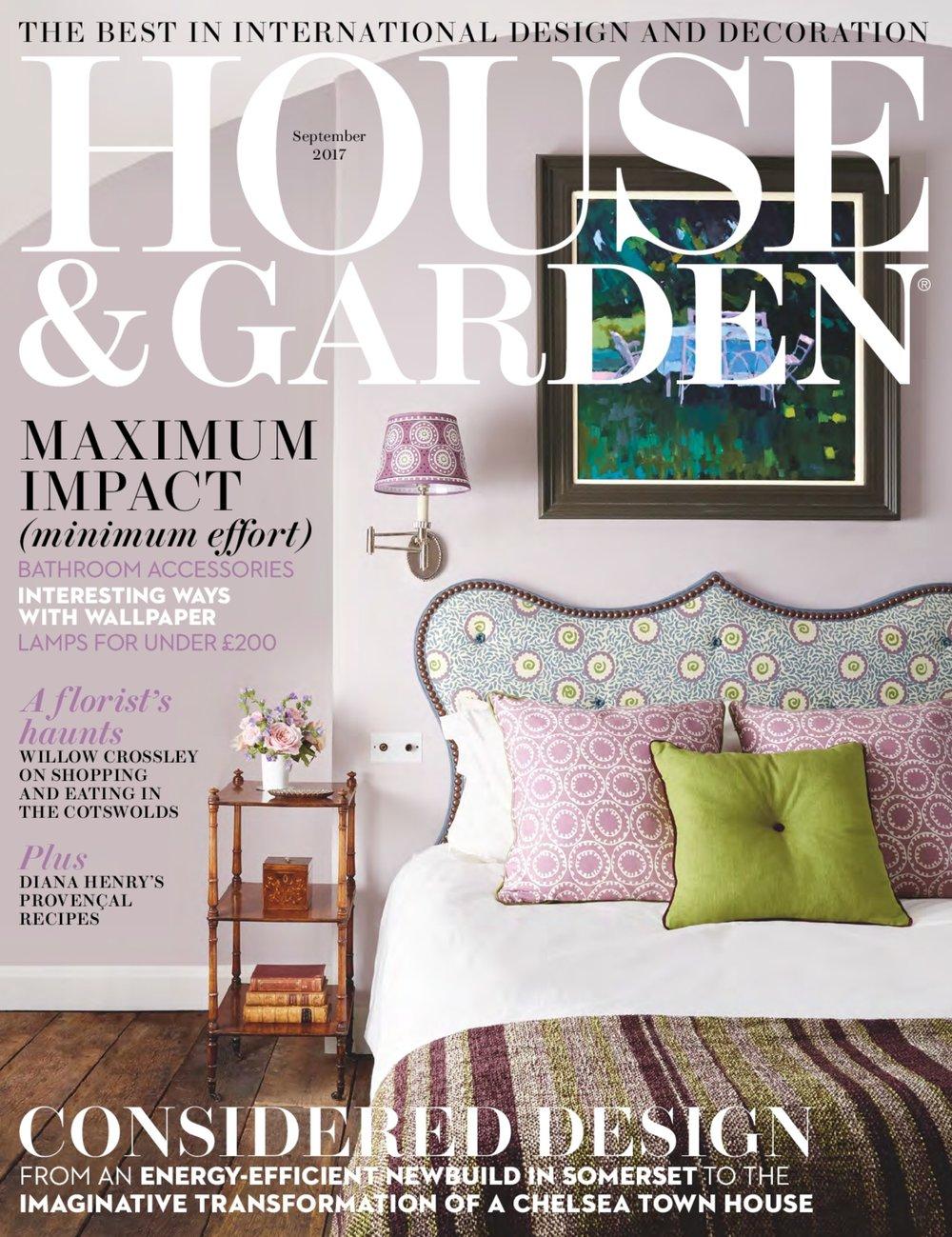 House & Garden, September 2017 — Studio Peascod