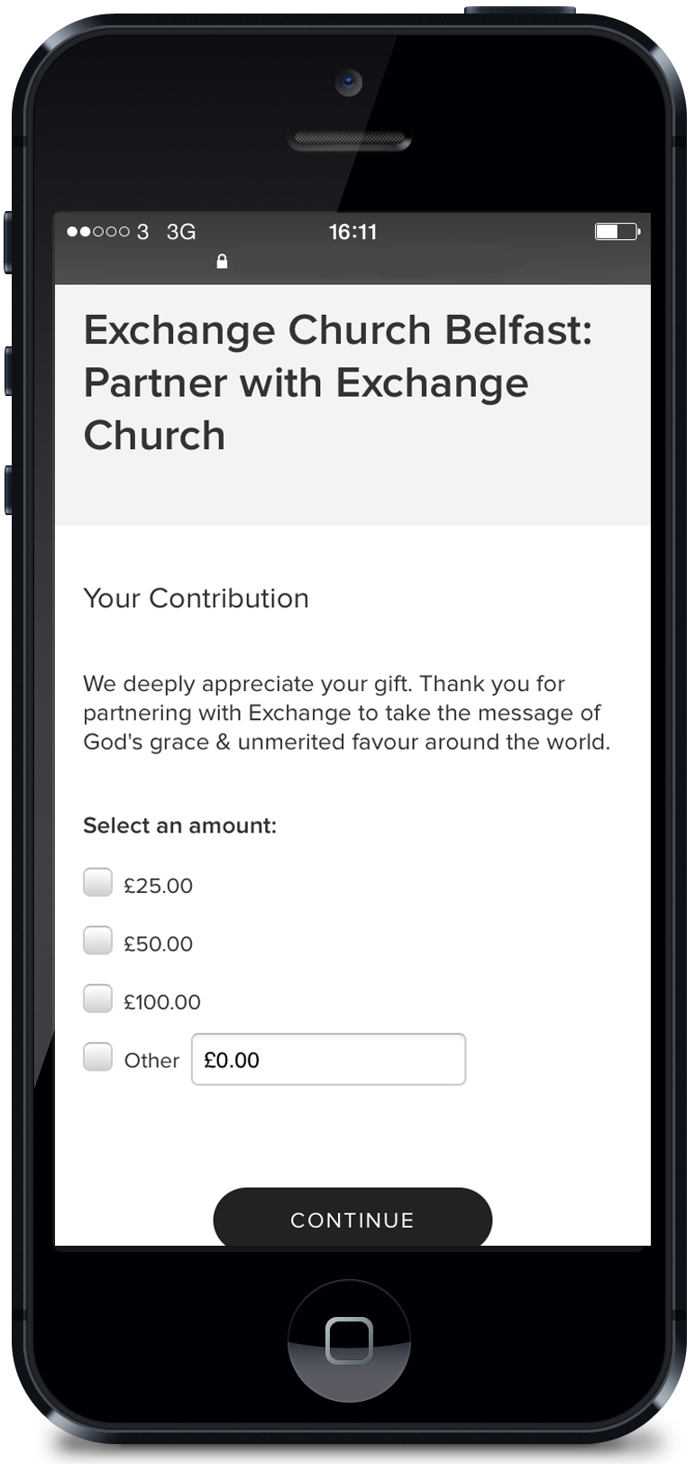 You can partner with us now through your phone by giving using the Exchange app. An easy interface makes giving quick & easy!