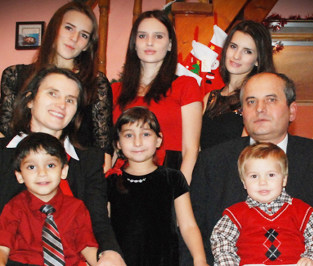 Pastor Vasile Sana & family - supported by the generous financial support of Exchange & our partners