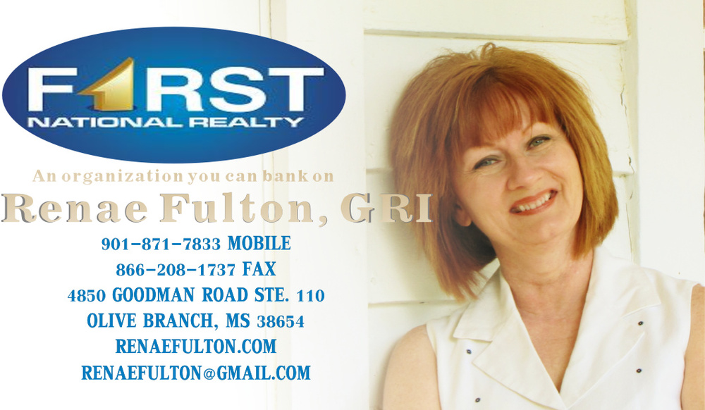 Updated business card design for Renae Fulton