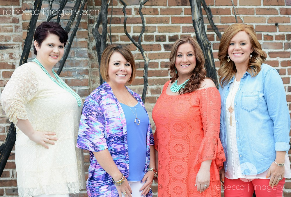 Paradise Salon ladies (L to R): Jodie Hays (stylist,) Heather Sanders (owner & stylist,) Melinda Harris (nail technician) and Carrie Thorne (stylist)