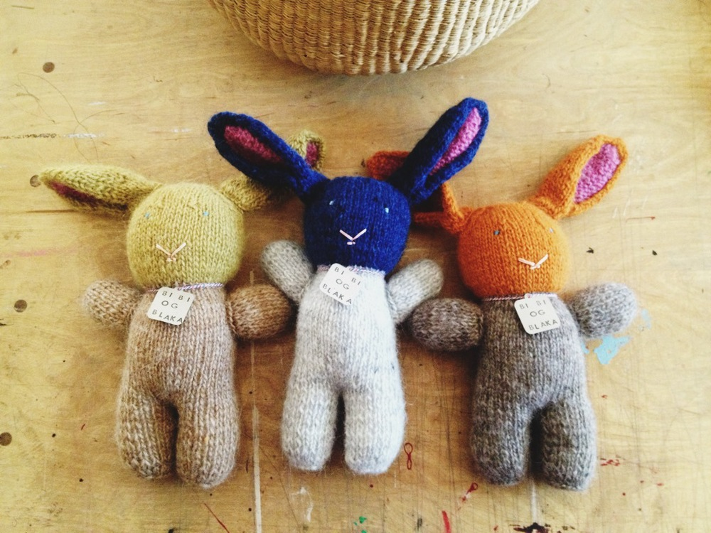 Three new Lopi bunnies in my shop this month. My Lopi supply is running low...hoping Ruby brings some yarn back for me from the  Alafoss Shop  in Iceland. Lucky girl.
