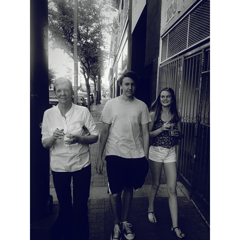 Downtown Tucson with my mama, Clementine and my nephew, Trevor.