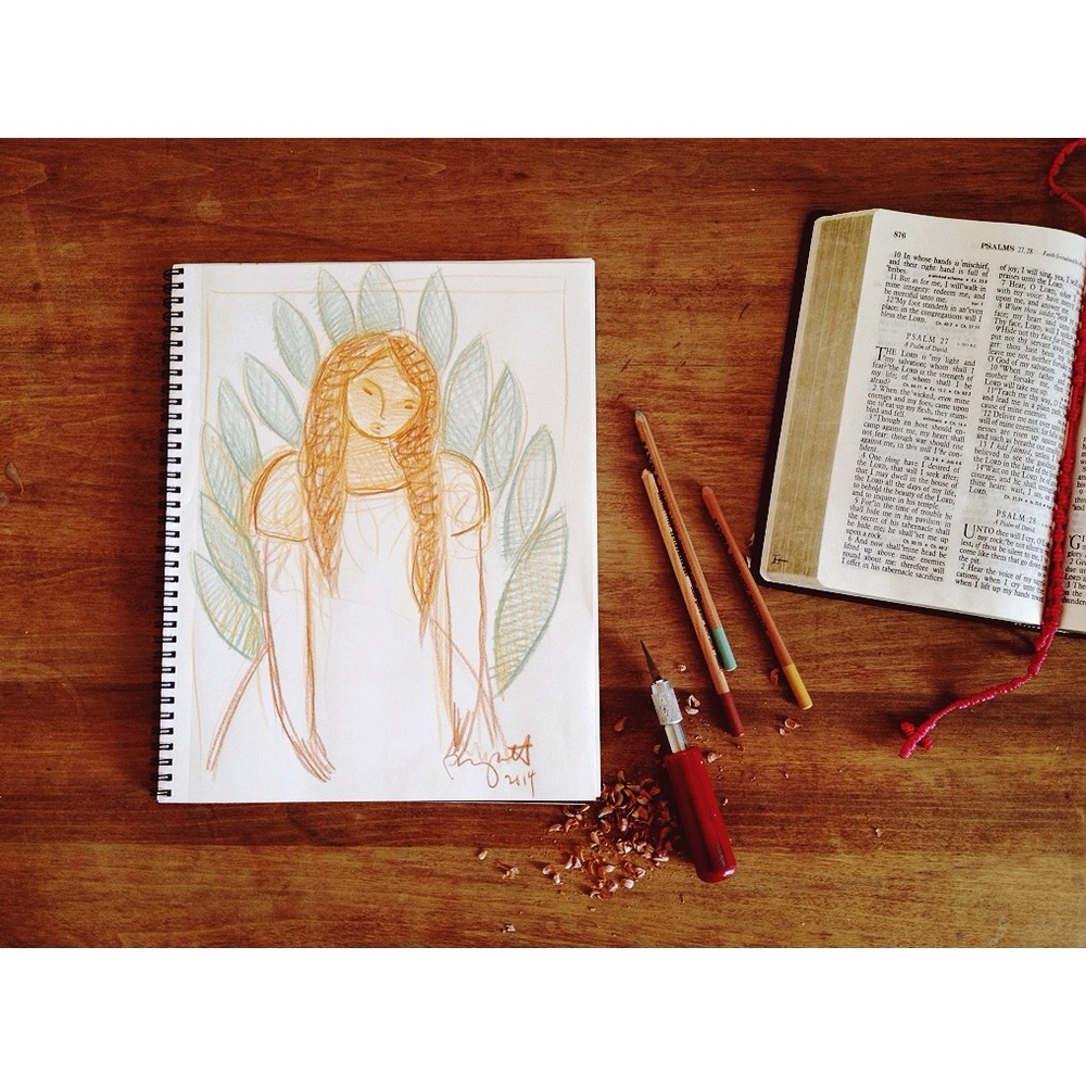 Daily sketches and psalms