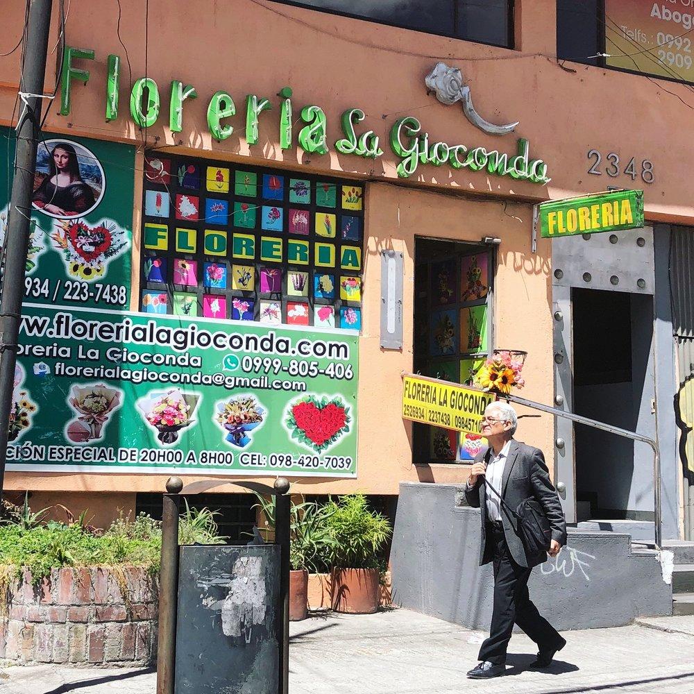 Beautiful signage in Quito.