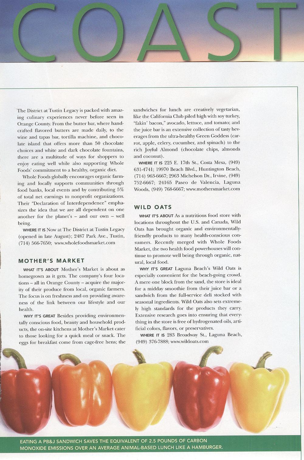 Coast - September 2007 - Whole Foods Article Cont.jpg