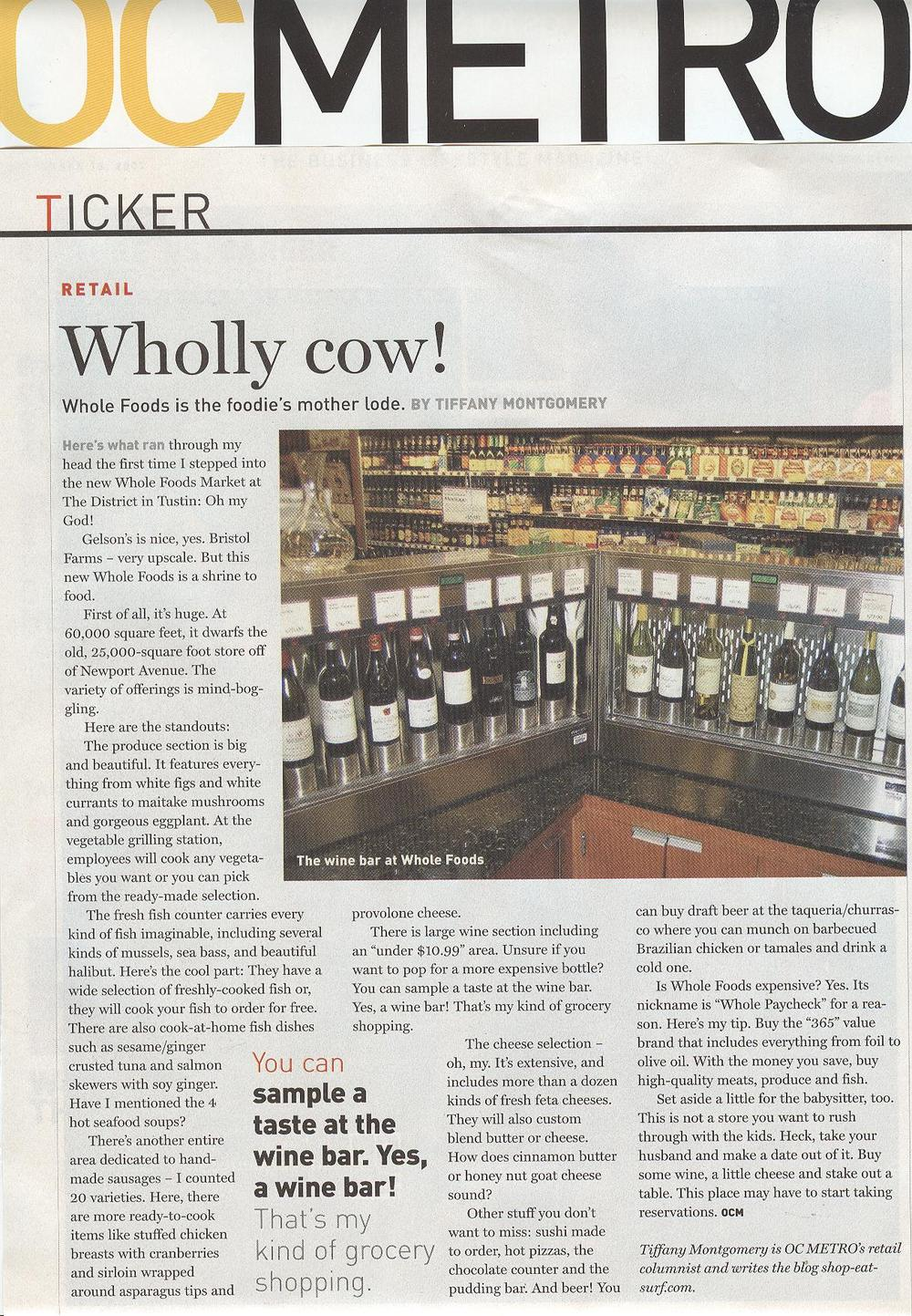 OC Metro - Sept 13, 2007 - Whole Foods Article 1.jpg