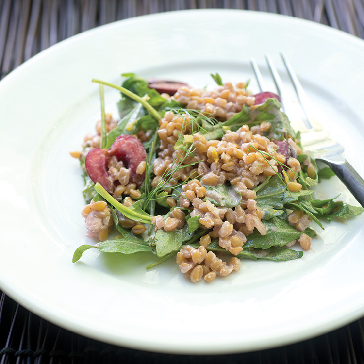 Wheat berry salad. Recipe below.