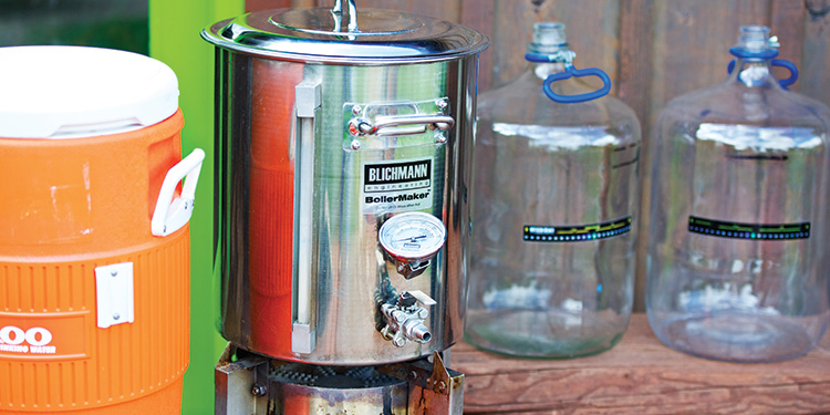 Johnny Ziem's squeaky-clean home brew setup helps his creations yield a flavorful palate.