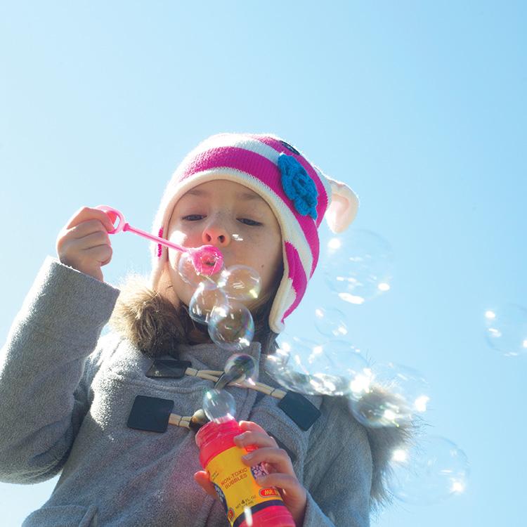 Frozen bubbles experiment.