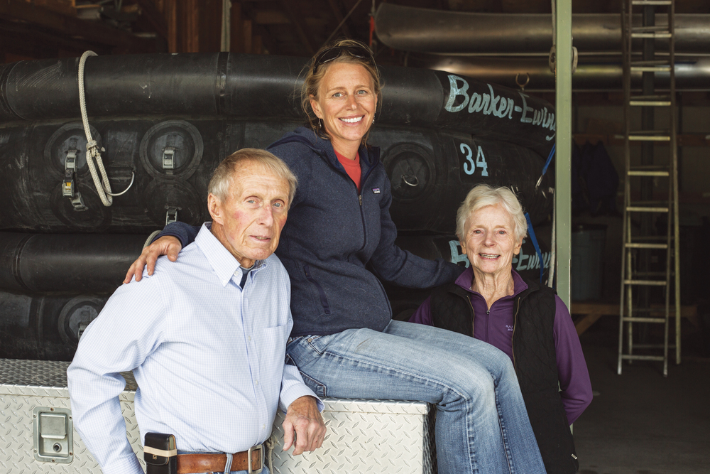 Frank (left) and Patty Ewing (right) started Barker-Ewing Whitewater with the Barker family in 1963. Today, their daughter, Heather Ewing, keeps the company afloat and thriving.
