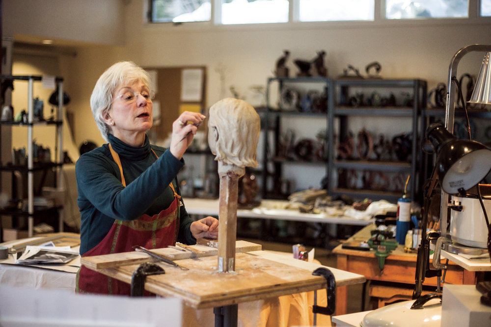 Wilson sculptor Amy Bright Unfried used aptitude testing to guide her onto her second career path.