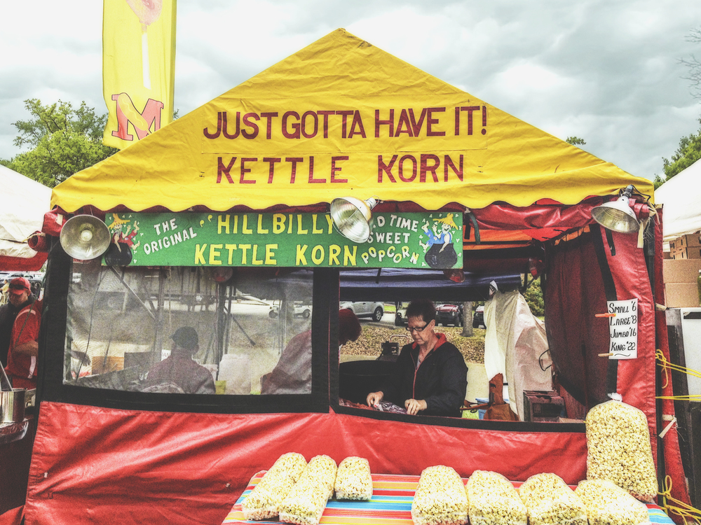 It's impossible to leave jazz fest without sampling the wares of our friends at Hillbilly Kettle Korn.