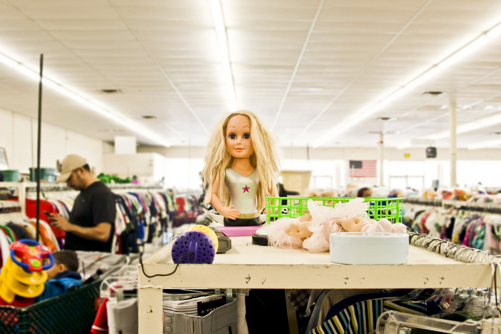 This doll awaits to eat your soul inside of Denton Thrift.  Photo by Jessica Livesay