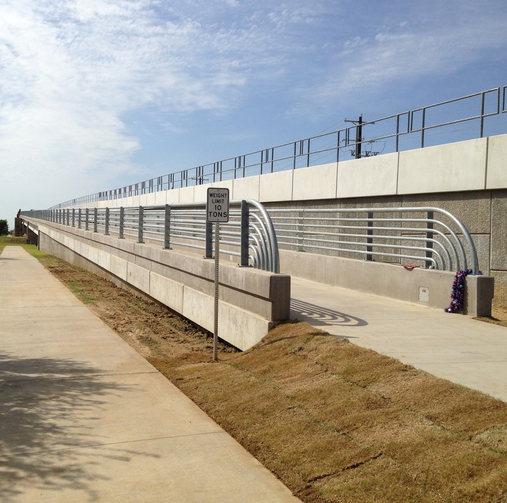 The new MLK pedestrian bridge over Loop 288.