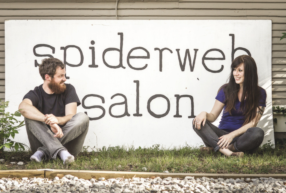 Conor Wallace and Courtney Marie of Spiderweb Salon.