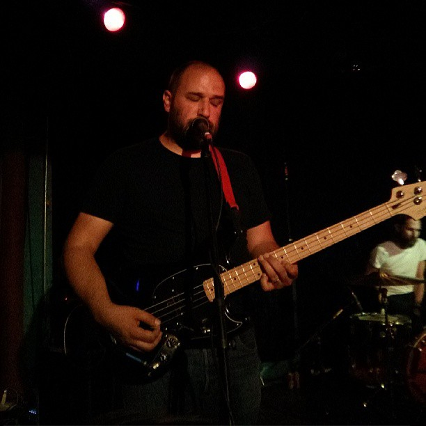Reader Josh Piers (@JoshPiers) shared his photo of Overseas' David Bazan singing at Dan's Silverleaf last Thursday. Did you make it out to the show? What did you think?