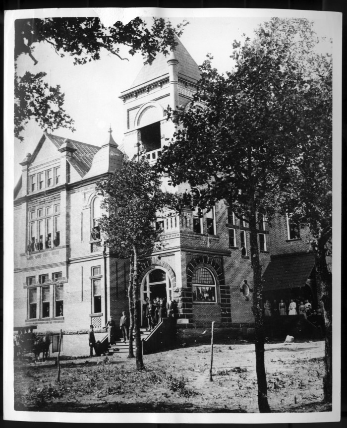 The first building at Texas Normal College, 1891.