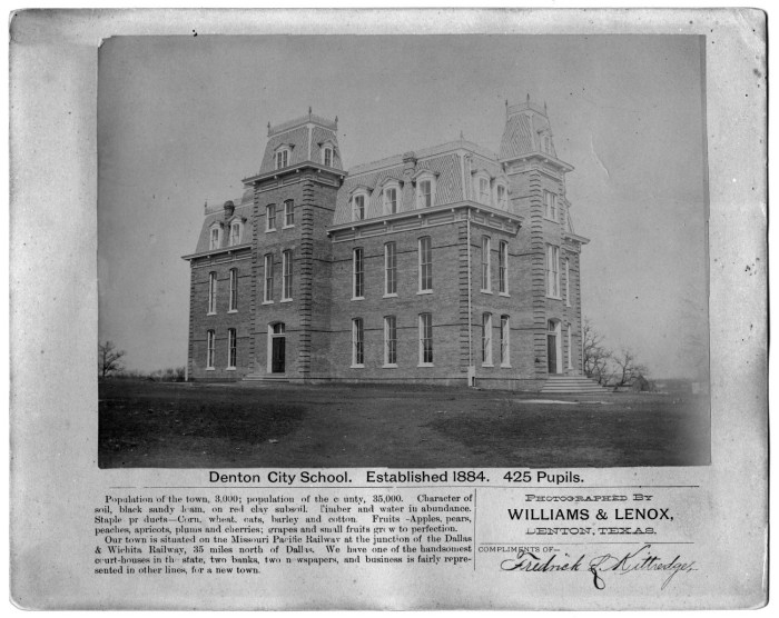 Denton City School, est. 1884
