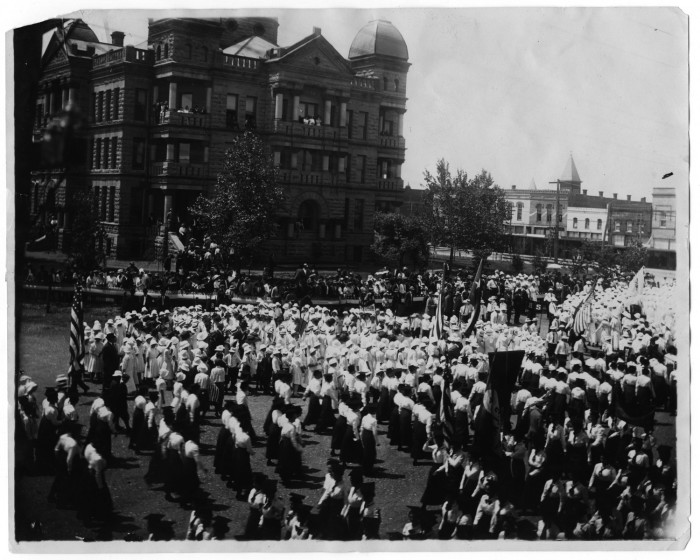 1913 Educational rally on the Denton Square, 'cuz we love a parade.