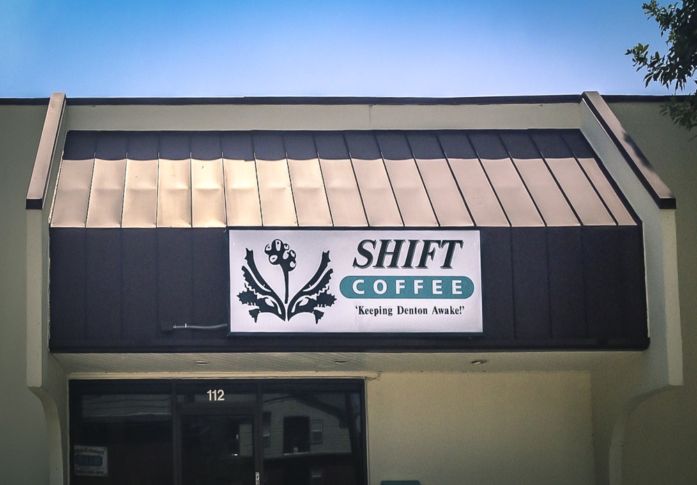 The location and exterior of Shift Coffee leave a little to be desired, but we've tried to have an open attitude in regards to location ever since the Better Block meeting and were very pleasantly surprised by what we found inside.