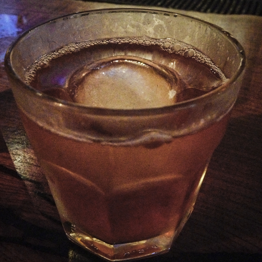 We could write poetry about the ice spheres encapsulated in the old fashioned's at East Side Social Club.