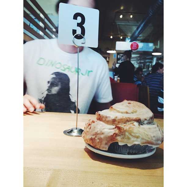 Jessica Chavolla  had our second favorite cinnamon roll in town from Loco Cafe.