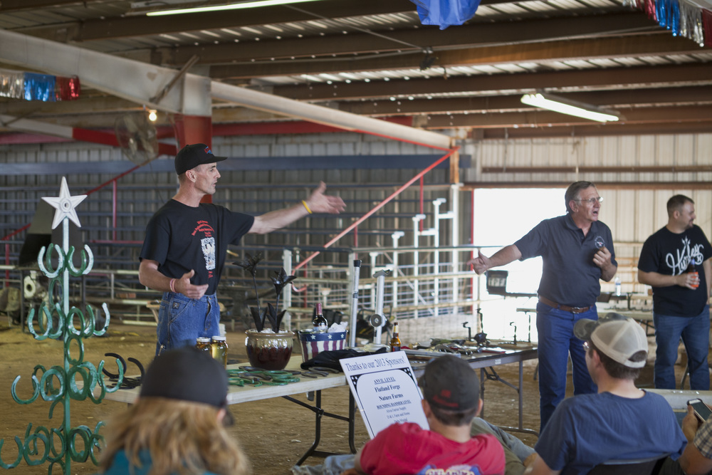 We visited a Farrier's Competition over at the North Texas Fairgrounds and saw a bunch of forges and hammers.
