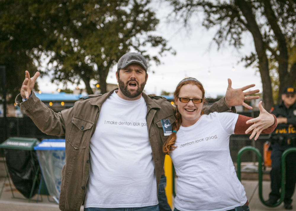 Alana Presley and Kent Boring from Keep Denton Beautiful and Denton Recycles were straight thuggin' at the show.