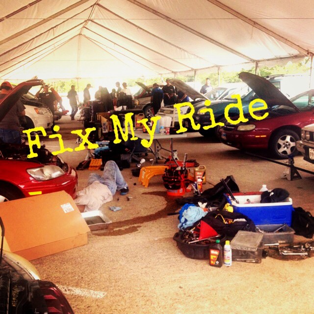 Fix My Ride was an effort from the fine folks at Cross Timbers church to fix the automobiles of college students, single parents and others in need of repair but unable to pay. It was a resounding success and we will definitely let y'all know ASAP if they have another. You can help out, too. Click here to find out more. Pic from  Bryce Olcon .