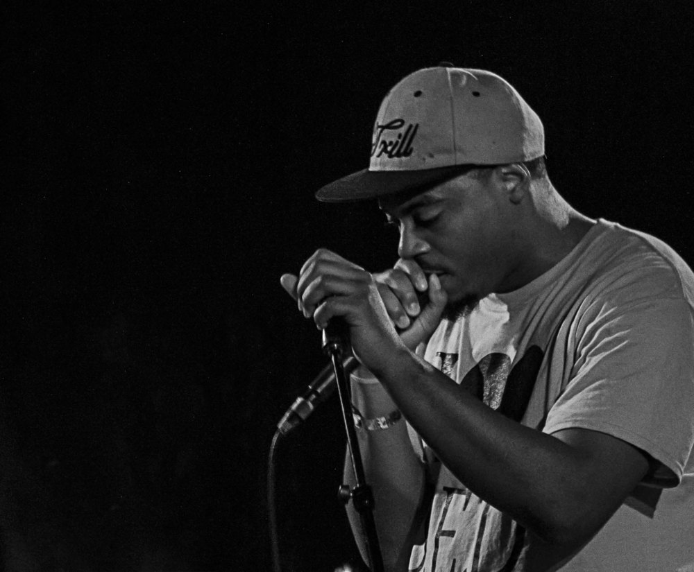 Rock Lottery 12 was another well-attended event this past weekend. AV the Great (pictured above), a local rapper, fronted a rather eclectic group of musicians (the best kind of Rock Lottery group) that called themselves  The Trill.