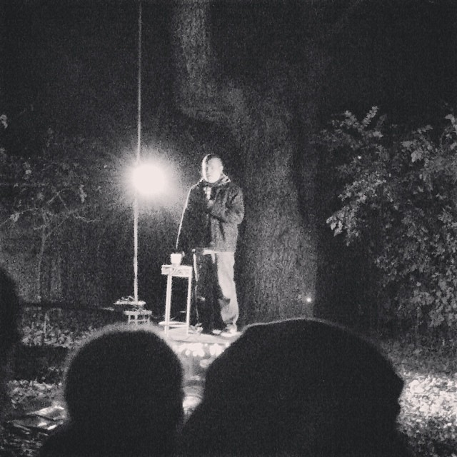 It wasn't cold enough to keep Dentonites from doing their thing, though. The Denton comedy scene gets more interesting to us every weekend. Here's a peek from a backyard standup session from Sarah Adams.
