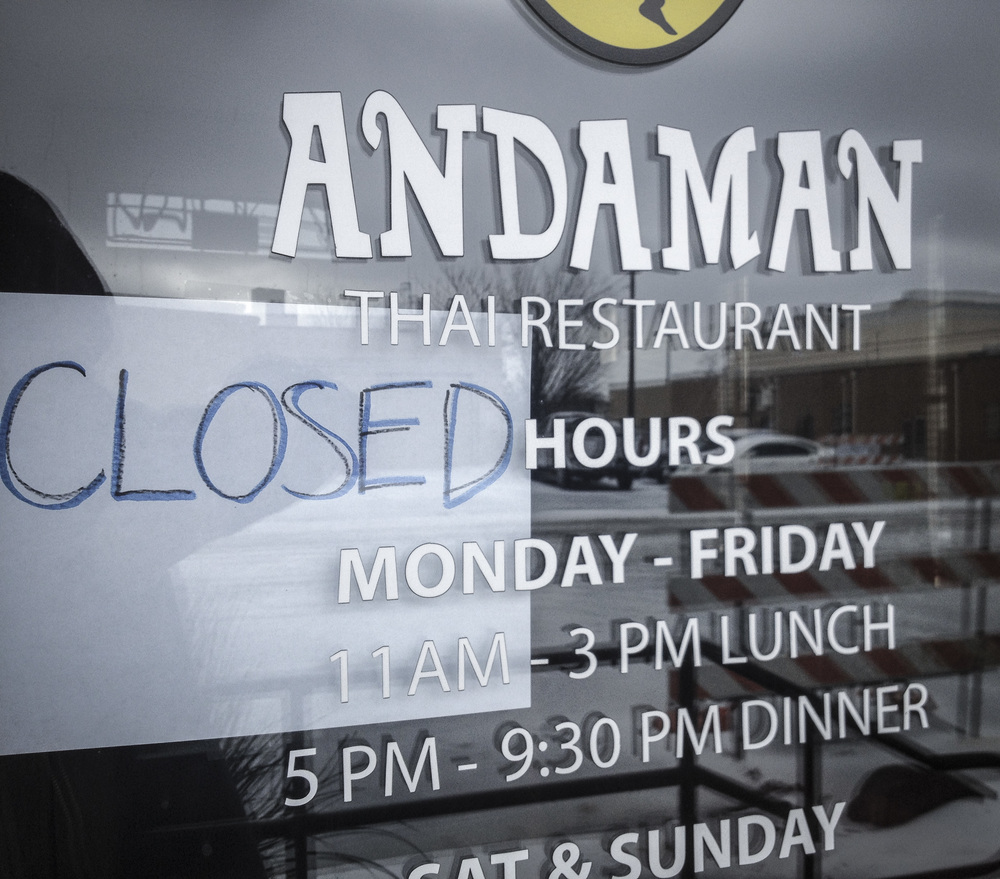 While many local businesses actually tried to be open, not surprisingly this was the signage in front of most spots.