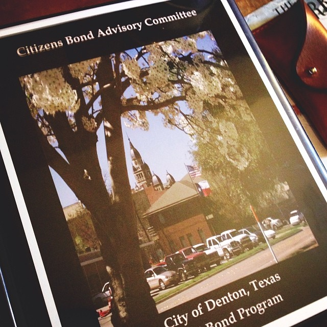 The binders for the 2014 Citizens Bond Advisory Committee are ginormous this year, y'all.