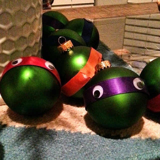 Ninja Turtle ornaments from  Todd Spigener.