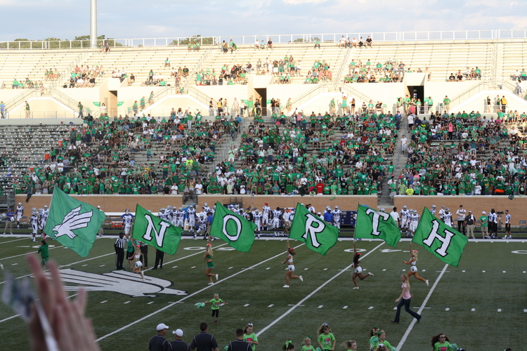 UNT Football had us actually attending games this year.