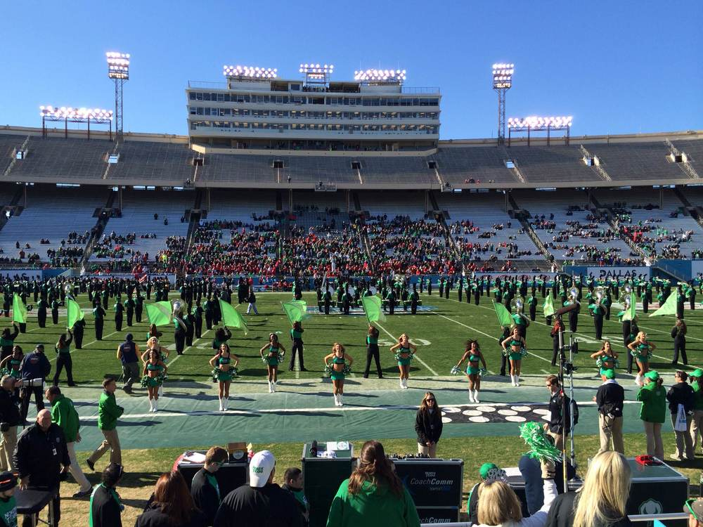 We also trekked over to the Heart of Dallas bowl game to watch UNT take down UNLV.