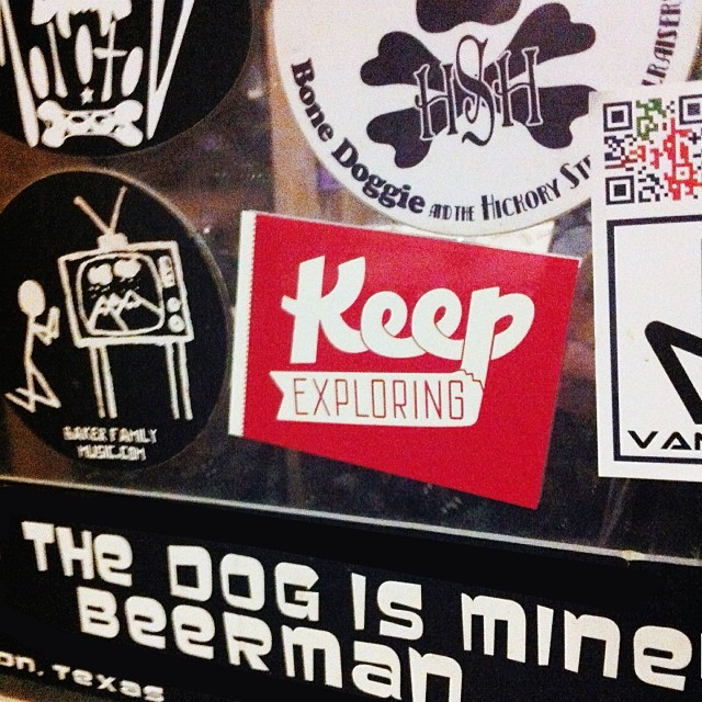 @wekeepexploring got some stickerage up at The Abbey Underground this weekend.