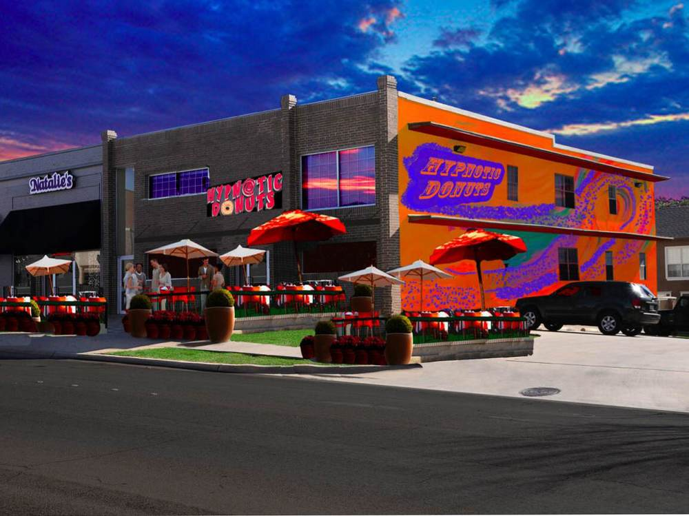 Rendering of the new Hypnotic Donuts store on Hickory St.