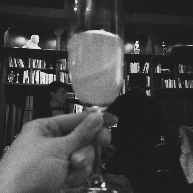 A celebratory French 75 at Paschall's.