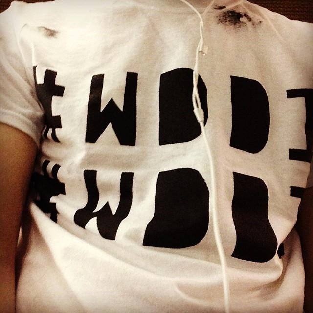 #WDDI shirts from Sunday Print Shop.