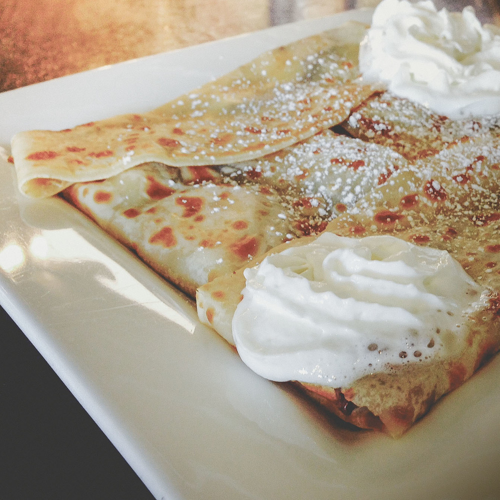 We were so full of crepe on Saturday.