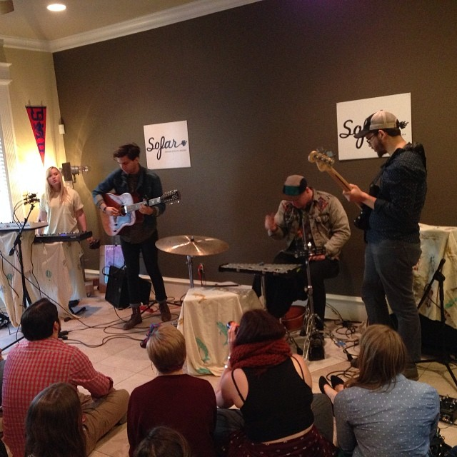 Chambers representing Denton at SoFar DFW. Photo by Michelle Bradley.