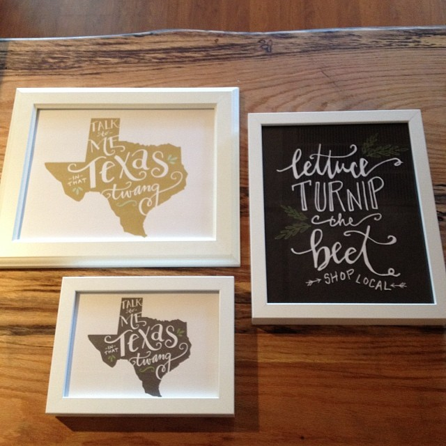 New Texas prints at The Dime Store.